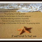 Starfish on the Beach Story/ Change Lives