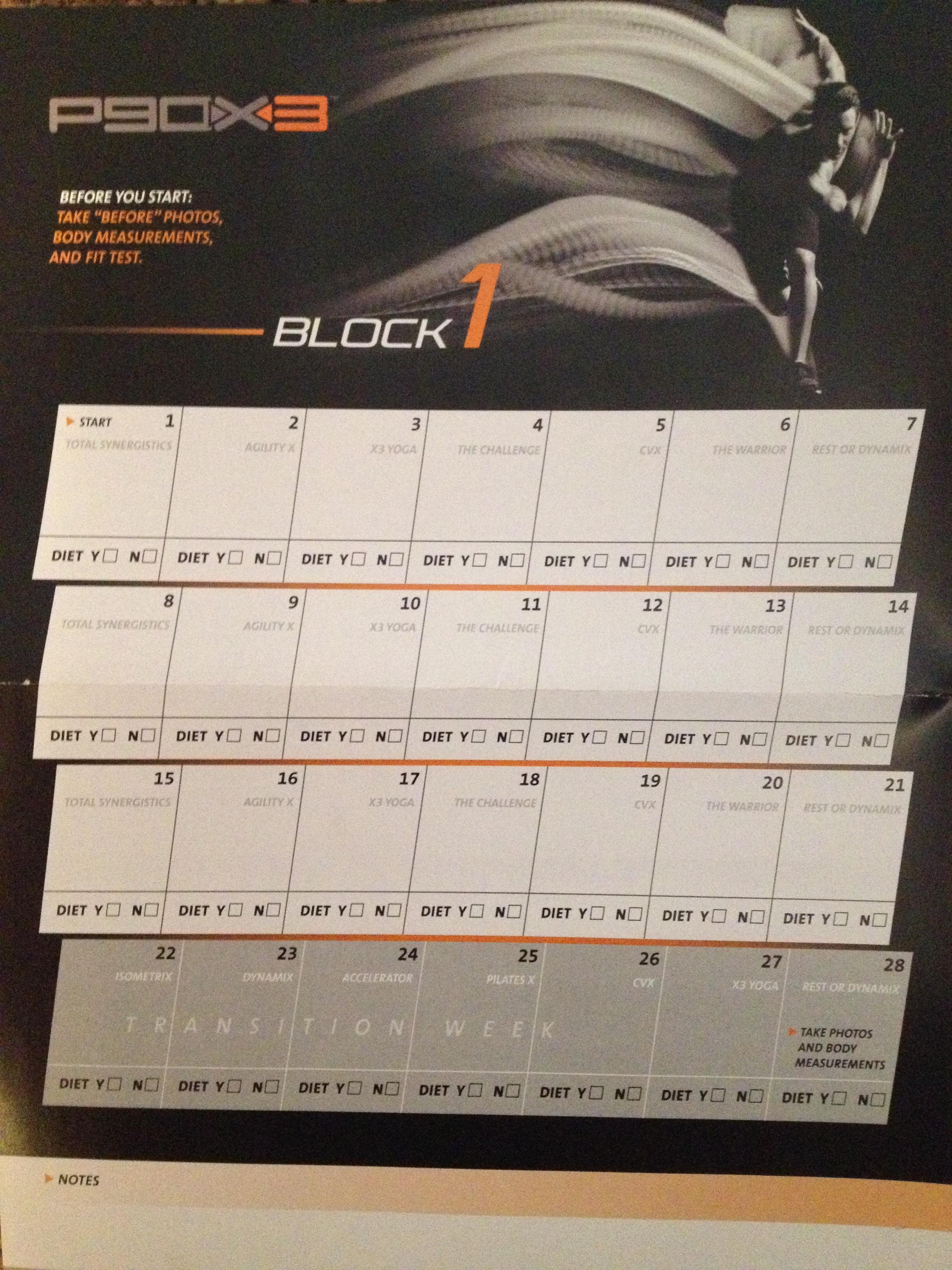 p90x3 calendar