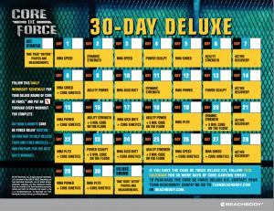core de force calendar deluxe