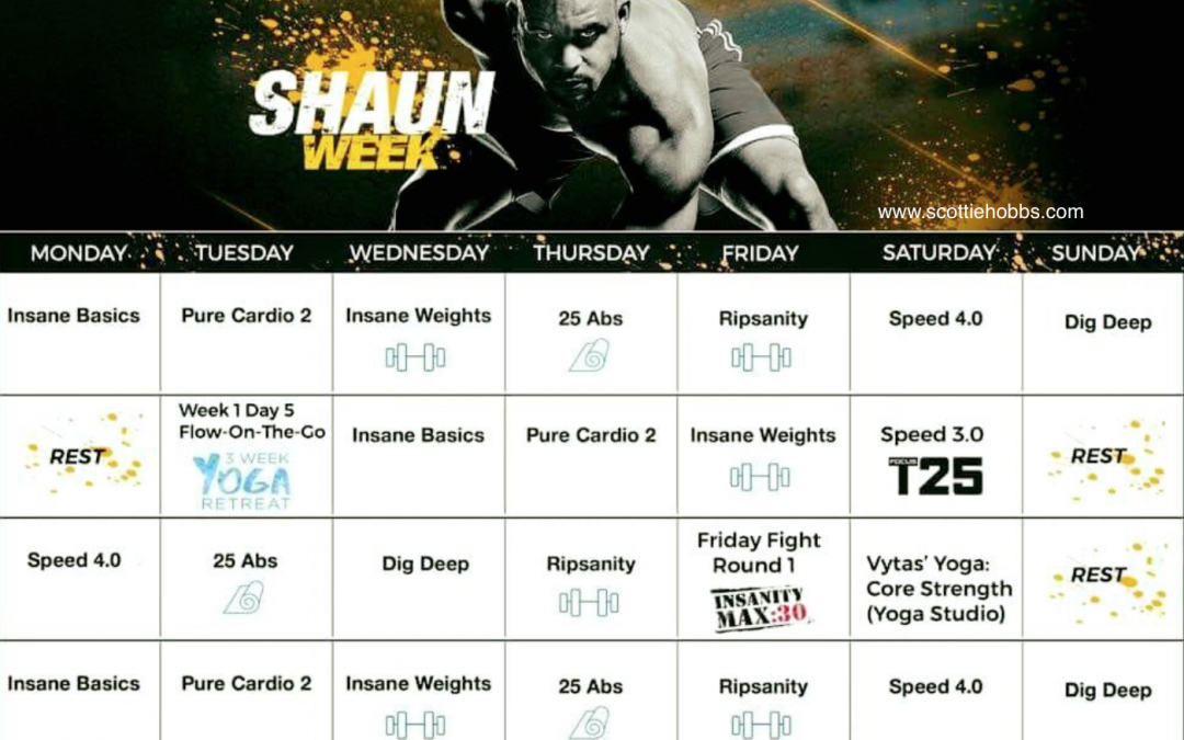 Shaun Week Hybrid Schedule