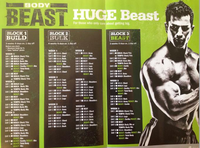 Body Beast Workout Schedule Pdf